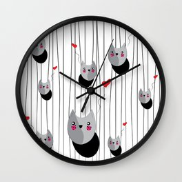 Lovely Cat Wall Clock