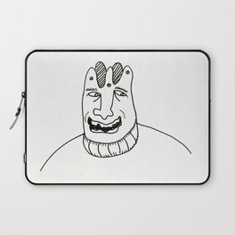 A laughing man with a crown on his head Laptop Sleeve