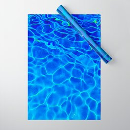 Blue Water Abstract Wrapping Paper