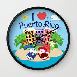 Ernest & Coraline | I love Puerto Rico Wall Clock