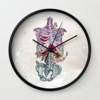 la Wall Clocks featuring La Vita Nuova (The New Life) by Rachel Caldwell