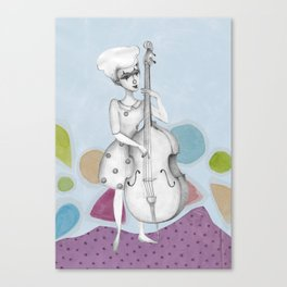 I bass play a song for you Canvas Print