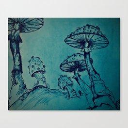 Mushroom Garden Canvas Print