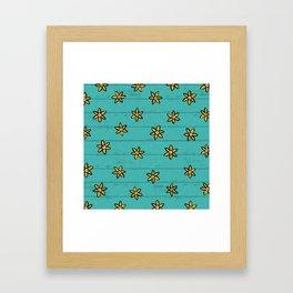 zuhur turquoise Framed Art Print