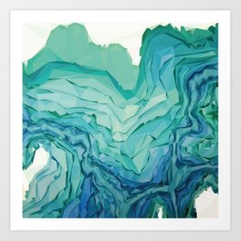 'FIFTY SHADES OF BLUE' Art Print