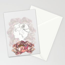 Portrait & Peonies Stationery Cards