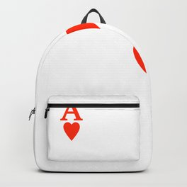 Ace of hearts Costume Halloween Deck of Cards - playing card Backpack