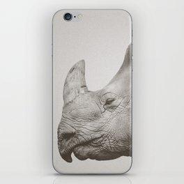 Rhino Photography | Warm Grey | Animals iPhone Skin