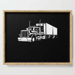 My Favorite Trucker Motif Serving Tray