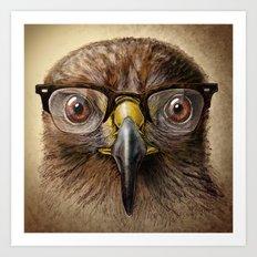 Hipster Eagle Art Print