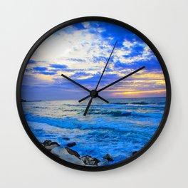 Tel Aviv Beach Sunset Wall Clock