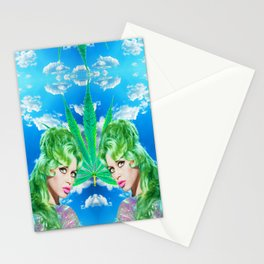 BRIGITTE BARDOT MARIHUANA SKY CLOUDS Stationery Cards