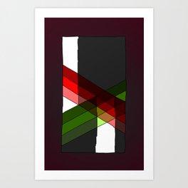Argyle Extrapolation Art Print