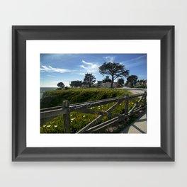 Blue-Green Framed Art Print