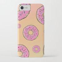 doughnut iPhone & iPod Cases featuring Doughnut by Sara Eshak