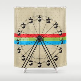 The Fun Wheel Shower Curtain