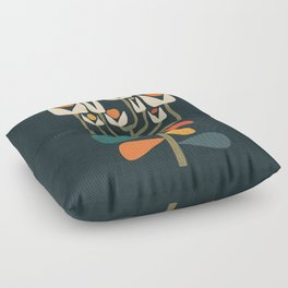 Retro botany Floor Pillow