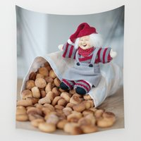 cookies Wall Tapestries featuring Christmas cookies by Ruta Dok