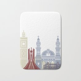 Algiers skyline poster Bath Mat