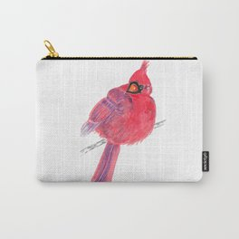 Glancing Cardinal Carry-All Pouch