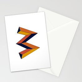 The W Letter Stationery Cards