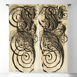 Antique Caligraphy Blackout Curtain