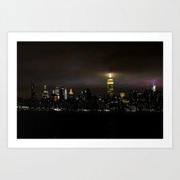 Empire State at Night, B Art Print