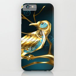 Steampunk Bird with Sakura iPhone Case