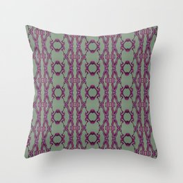 Blueberry lace Throw Pillow