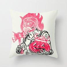 Headless Norseman Throw Pillow
