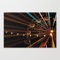 ferris wheel Canvas Prints featuring Ferris Wheel by Renee Trudell