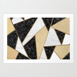 Black & Gold Abstract Art Print