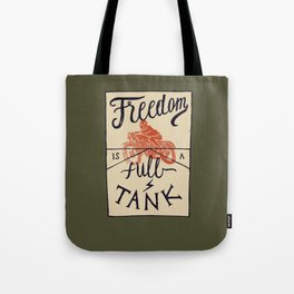 Freedom biker print Tote Bag