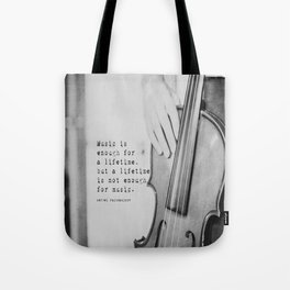 Music Quote Rachmaninov Tote Bag