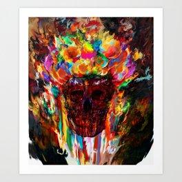 autumn skull Art Print