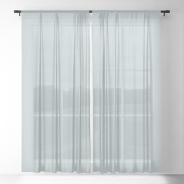 Ultra Light Pastel Blue Solid Color Pairs with Sherwin Williams 2020 Forecast Colors Sleepy Blue Sheer Curtain