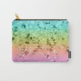 Rainbow Stars Glitter #1 #shiny #decor #art #society6 Carry-All Pouch