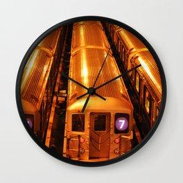 New York Queens Subway 7 Train Yard Wall Clock