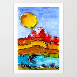 Landscape November 23 Art Print