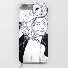 Woman with Owl Familiar iPhone Case