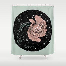 Warped Rose Shower Curtain