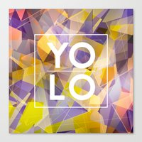 sayings Canvas Prints featuring Dreams of YOLO Vol.1 by HappyMelvin