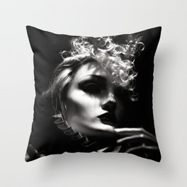Woman Fashionista Throw Pillow
