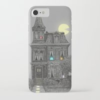 house iPhone & iPod Cases featuring Haunted by the 80's by Terry Fan
