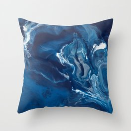 "Color Commentary #5: ""Undertow"" (Blue & Grey) [Philip Earls] Throw Pillow"