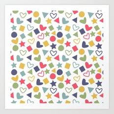 Colorful Lovely Pattern Art Print