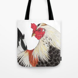 Chicken Portrait Tote Bag