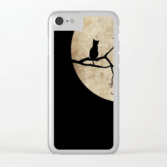 Cat Night Clear iPhone Case
