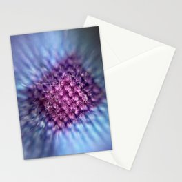 Microscopic photography purple quilt Stationery Cards