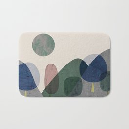 Trees and mountains Bath Mat